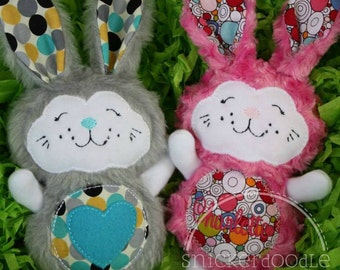 Personalized Embroidered Stuffed Bunny Plush ~ Perfect for Easter Basket!
