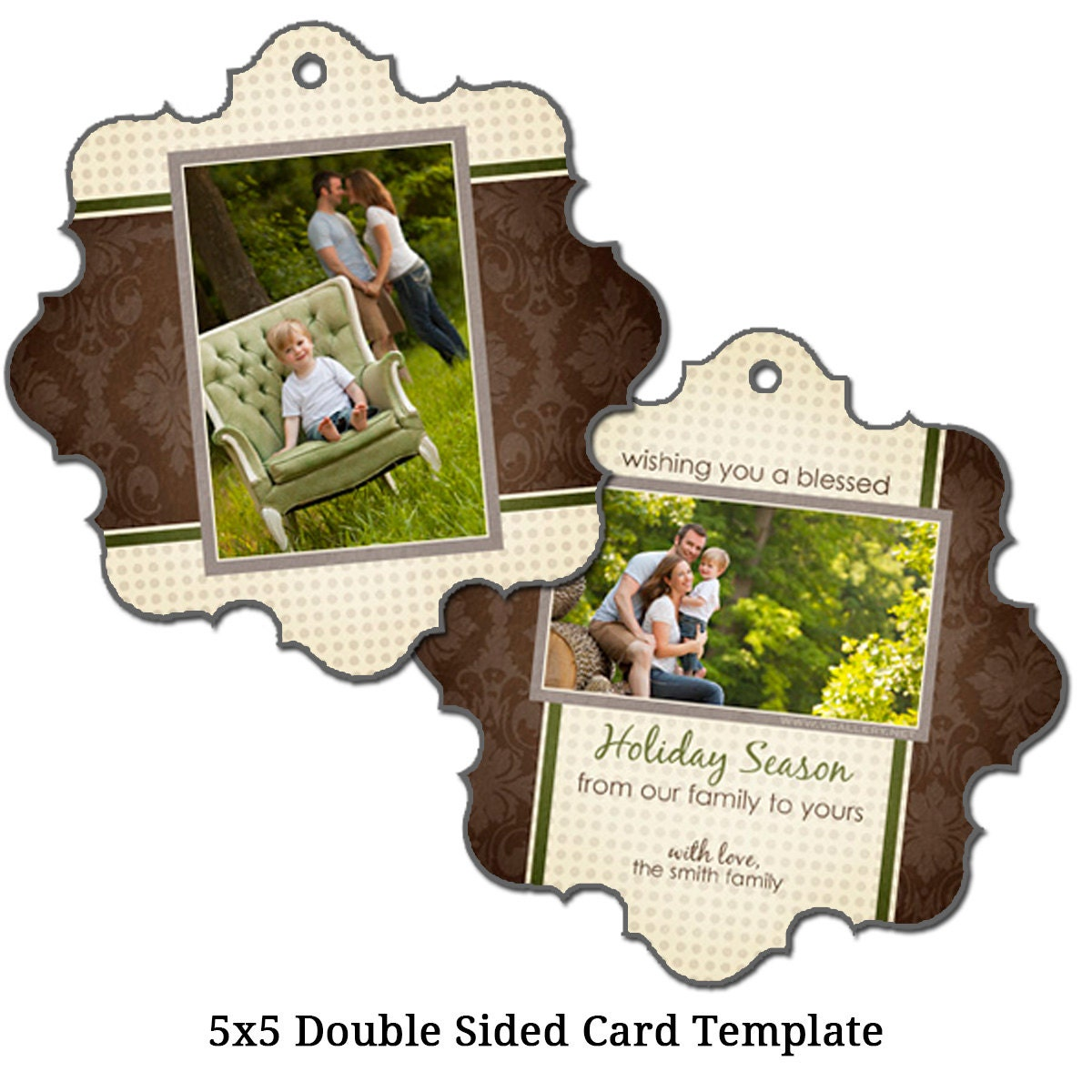 5x5 double sided christmas card template by vgallerydesigns. Black Bedroom Furniture Sets. Home Design Ideas