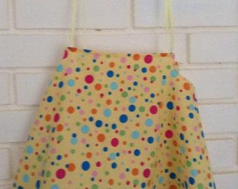 Toddler SZ 3 - 4 Spring/Summer dress; Yellow cotton  multi color spots