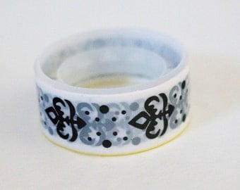 Black and White Fleur de Lis Washi Tape