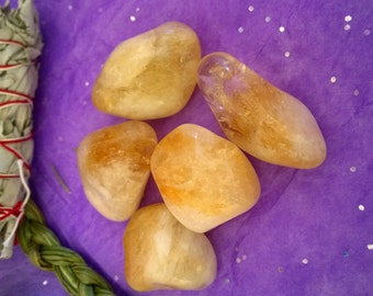 Highest Grade Citrine Healing Crystal stone Tumbled  Healing crystals healing stones chakra Solar Plexus