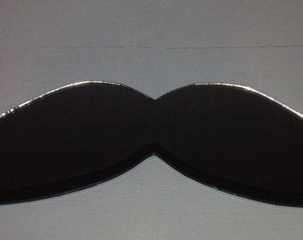 Mustache Laser Cut Acrylic Mirror Wall Decor