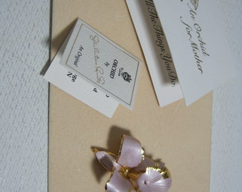 CERRITO ORIGINAL Orchid Brooch Pin Flower Signed An Orchid for Mother Vintage