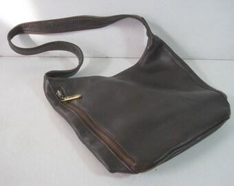 """M. LONDON Handbag Purse Shoulder Bag 12""""x10""""x2.5"""" Women's Leather Vintage"""