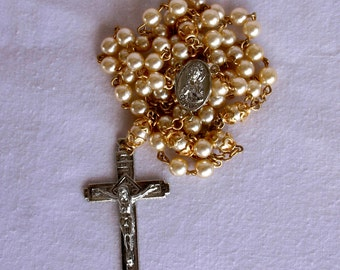 Rosary with Glass Pearls. Gifts for Mom