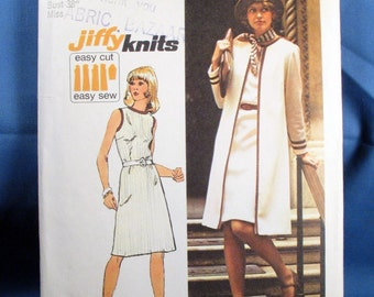Vintage Simplicity 6200 Misses Dress and Coat Size 16- 1974