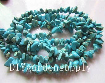 New Products---1 string(34-35.5inch(87-90cm)5-8mm Raw Turquoise Beads Hole- 1mm