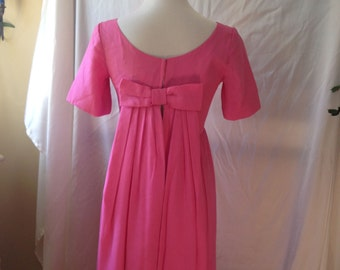 Vintage, Custom-made Pink Chiffon Empire Gown for Wardrobe Styling
