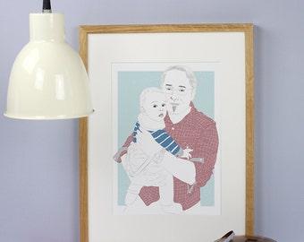 Father & child portrait