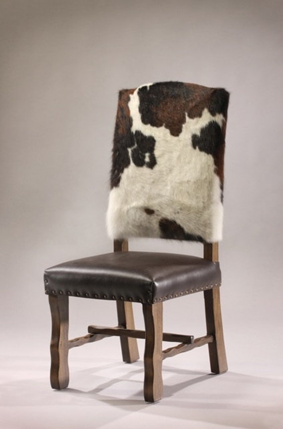 items similar to cowhide dining chair on etsy. Black Bedroom Furniture Sets. Home Design Ideas
