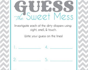 Baby shower game cards for guess the sweet mess candy bar for Food bar games free online
