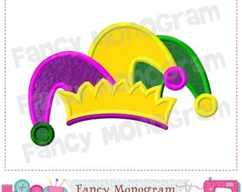 Mardi Gras,Jester Hat,Mardi Gras applique,Jester Hat applique,Jester Hat design,Jester,Mardi Gras,Jester design,Mardi Gras.