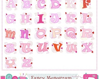 Mother's Day Monogram A~Z applique,Mother's Day Letters design,Mother's Day,Alphabet,26 letter,Fonts,Birthday letters,Girl design.-02