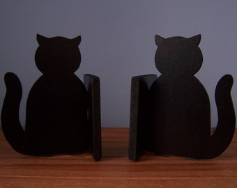 Pair of Lucky Black Cat Bookends