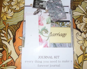 Make your own Wedding guest book in journal format complete kit