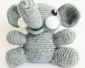 Soft elephant doll handmade crochet amigurumi kawaii - READY TO SHIP -