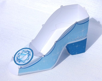 Blue Princess Shoe Treat Box (Instant Download)