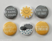 Sun & Rain Mini Flair Badges