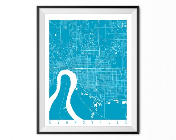 home decor stores evansville in evansville map print indiana poster evansville wall 12472