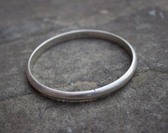 Heavy Vintage Sterling Silver Bangle Bracelet
