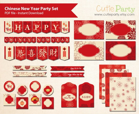 new year vocabulary. chinese new year greeting cards free printable ...