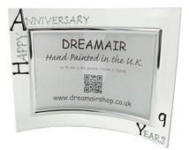 9th Wedding Anniversary Gift Ideas Uk : PERSONALISED Happy 9th Year Wedding Anniversary Gift Photo Frame (L ...