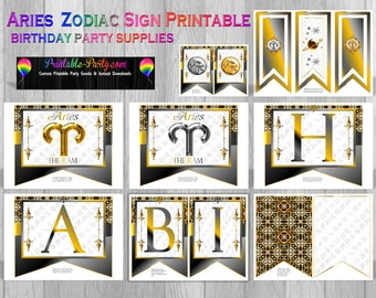 Aries Zodiac Sign Astrology Party Supplies