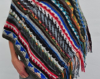 poncho hand knitted