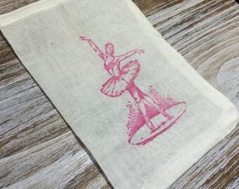 10 ballerina favor bags, ballet themed bags, little girl birthday favors, ballerina party favors