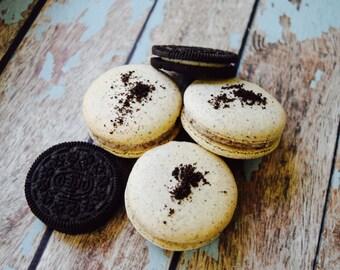 Cookies 'n Cream French Macaron Dozen