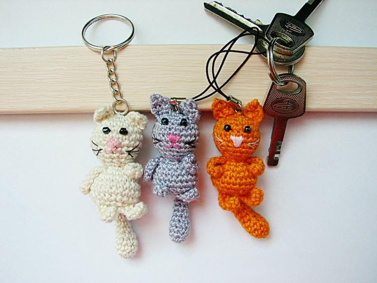 Amigurumi Monkey Keychain : Crochet keychain/Crochet Cat/ Amigurumi Cat/ Cat by croshka