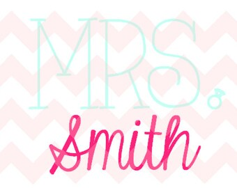 Mrs. Smith Decal- Iron on option available!