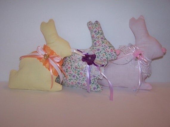 Spring Summer Decoration Plush Bunnies 3 Pc Bunnies
