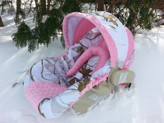Camo Infant Car Seat Cover Realtree Snow By Creativecarriers