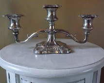 Viking Plate English Reproduction Three Arm Candelabra - Silver Plated EP Zinc