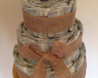 Customizable Diaper Cakes! Best Baby Shower Gift! Organic Diapers!