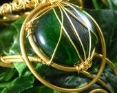Bracelet VERTEMANCHE ~ Laiton et verre