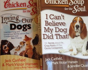 Chicken Soup for the Soul Dog Stories- Set of 2   Books