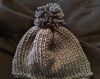 Super Soft Baby Pom Pom Hat