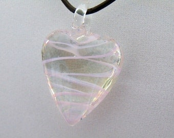 Transparent Heart Pendant Necklace