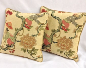 "Decorative Pillow, Jacquards,16""  Pillow Cover with piping and hidden zipper"