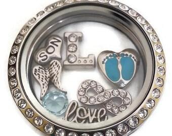 Miscarriage Keepsake Jewelry - Miscarriage Necklace - Personalized Memorial Keepsake - Angel Wings Locket with Baby Footprints - Boy or Girl