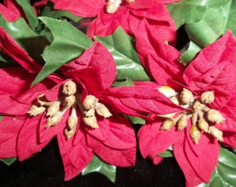 Napkin Holders | Christmas Red Poinsettia | Napkin Rings and Napkin Holders