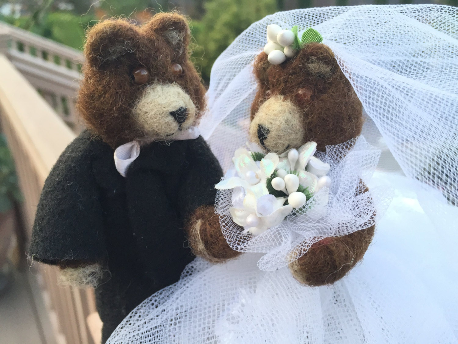 Wedding Cake Topper Bear wedding cake topper animal by ...