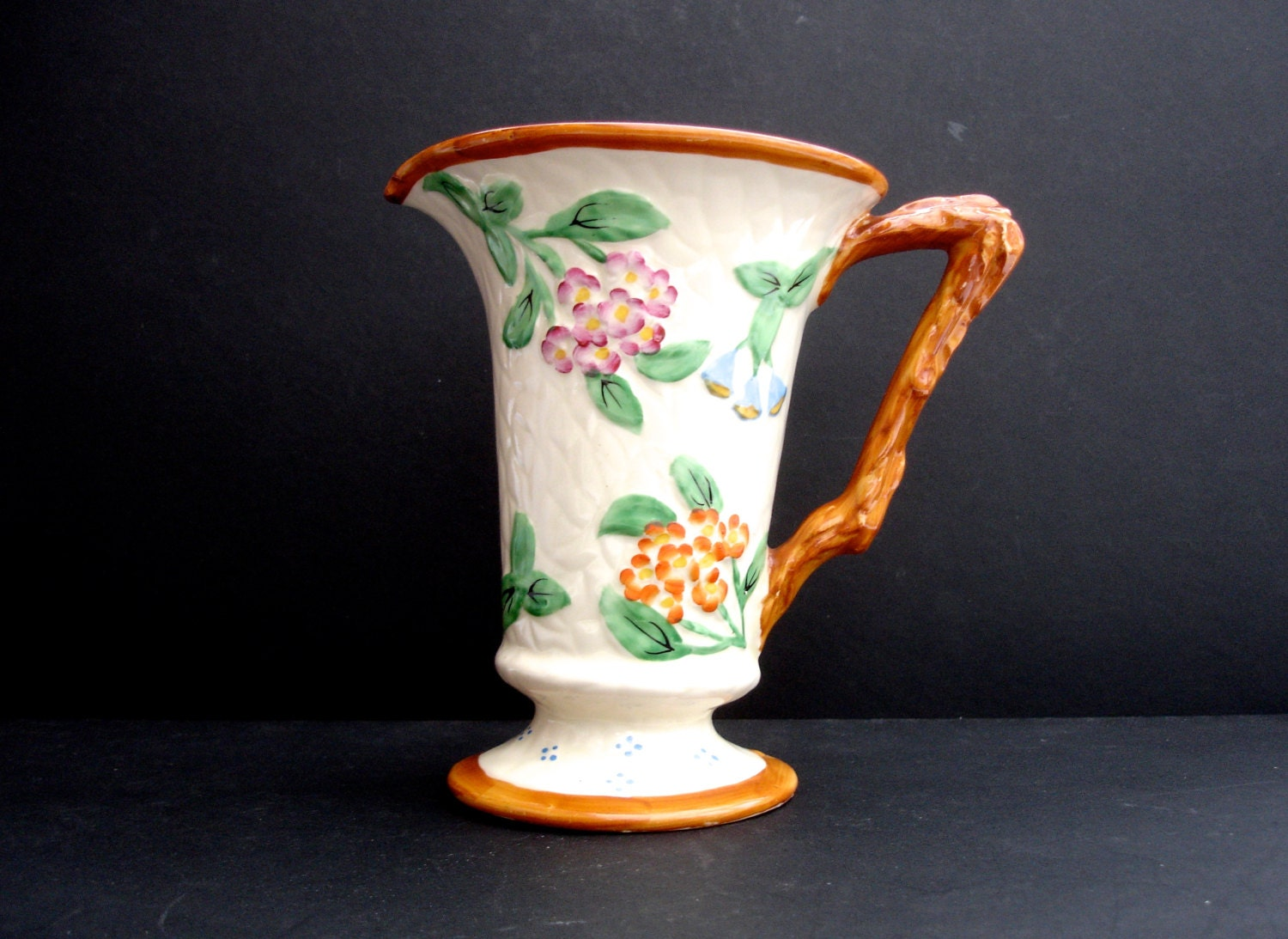 1950s James Kent Vintage Jug Flower Vase Vintage Decorative