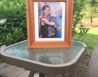 Exotic Wood Picture Frame - 8x10