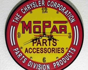 Mopar Parts Wall Clock, 11.75 diameter - New