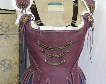 Custom Made Leather Steampunk Corset / Stay - Custom Made to order to Your Size