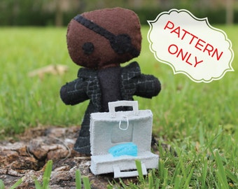 PATTERN: Nick Fury Felt Doll