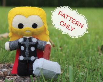 PATTERN: Thor Felt Doll